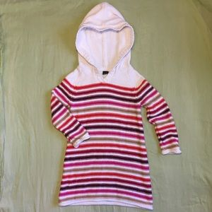 Baby Gap striped hooded sweater dress Size 3T
